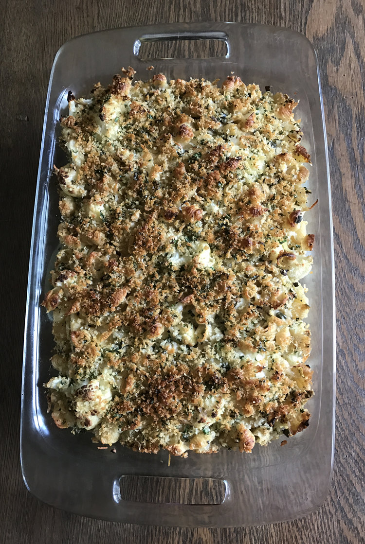Crusty Baked Shells & Cauliflower