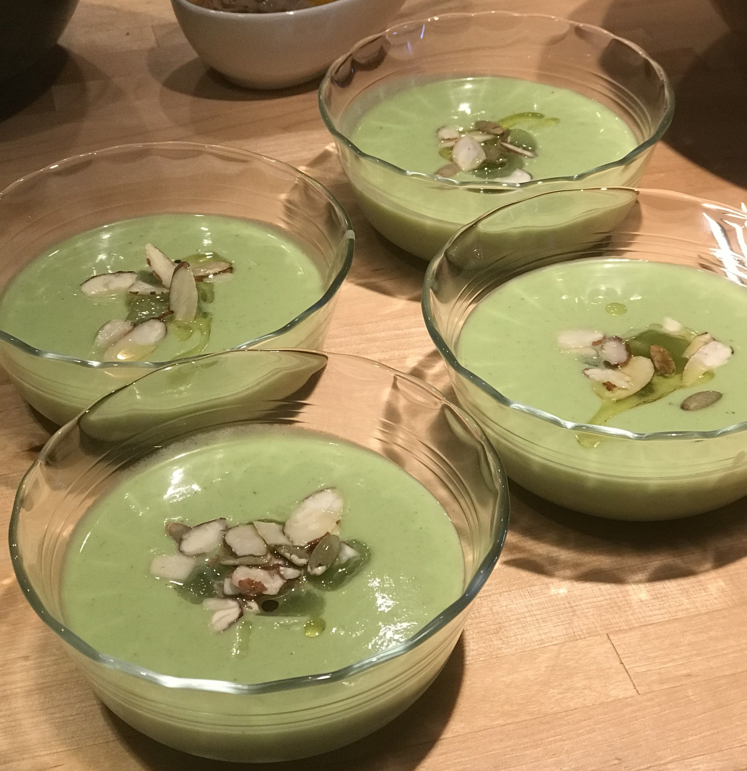 White Gazpacho with Cucumber & Grapes