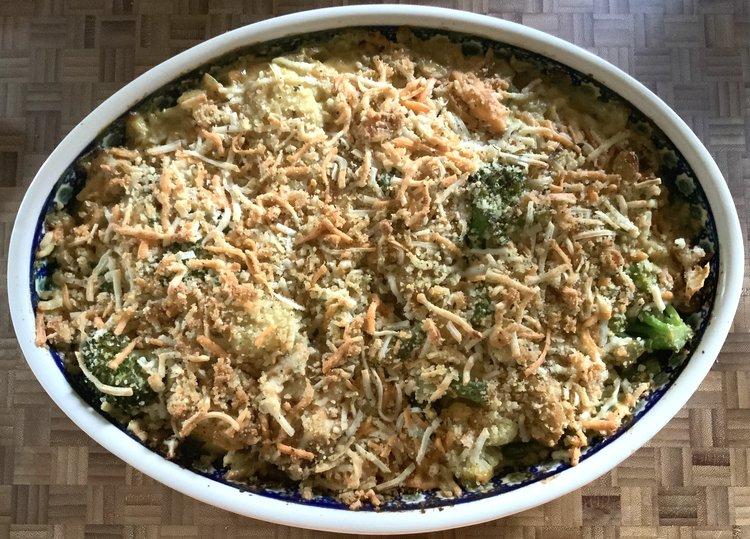 Chicken, Broccoli & Cauliflower Bake