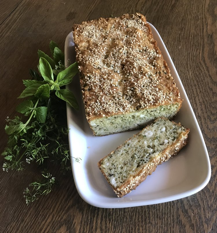 Fresh Herbs & Feta Quick Bread