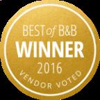 Best of B&B Winner 2016 Award, Seattle