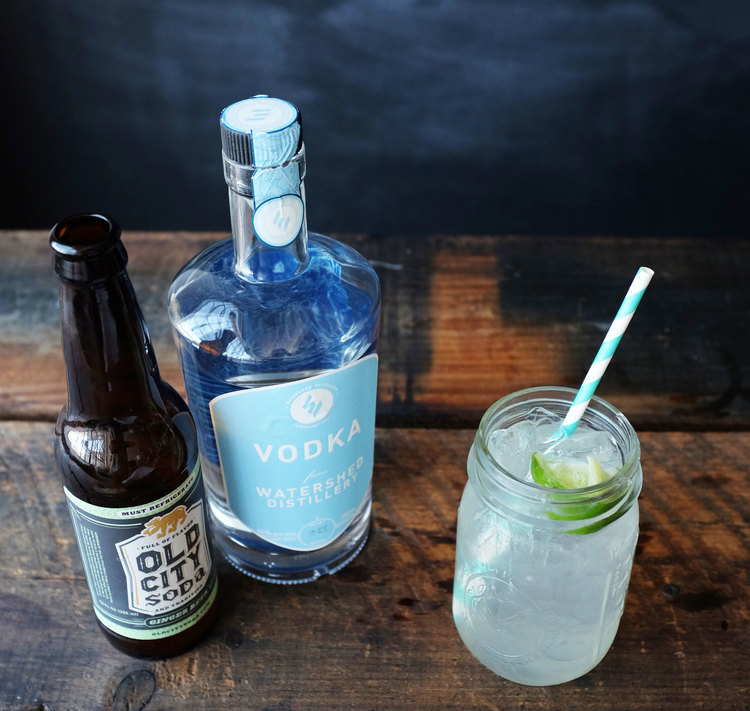 MOSCOW MULE {$7}  Ingredients: WatershedVodka | Old City Soda Ginger Beer | Lime wedge