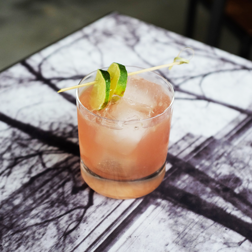 GIN DAISY  Ingredients:Watershed Bourbon Gin |Cointreau |House-made Grenadine | Lime