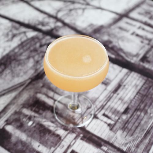FRENCH BLONDE  Ingredients:Watershed Gin |St. Germain | Lillet | Grapefruit Juice