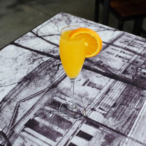 MIMOSA Ingredients:Domaine Muré Crémant |Fresh Orange Juice
