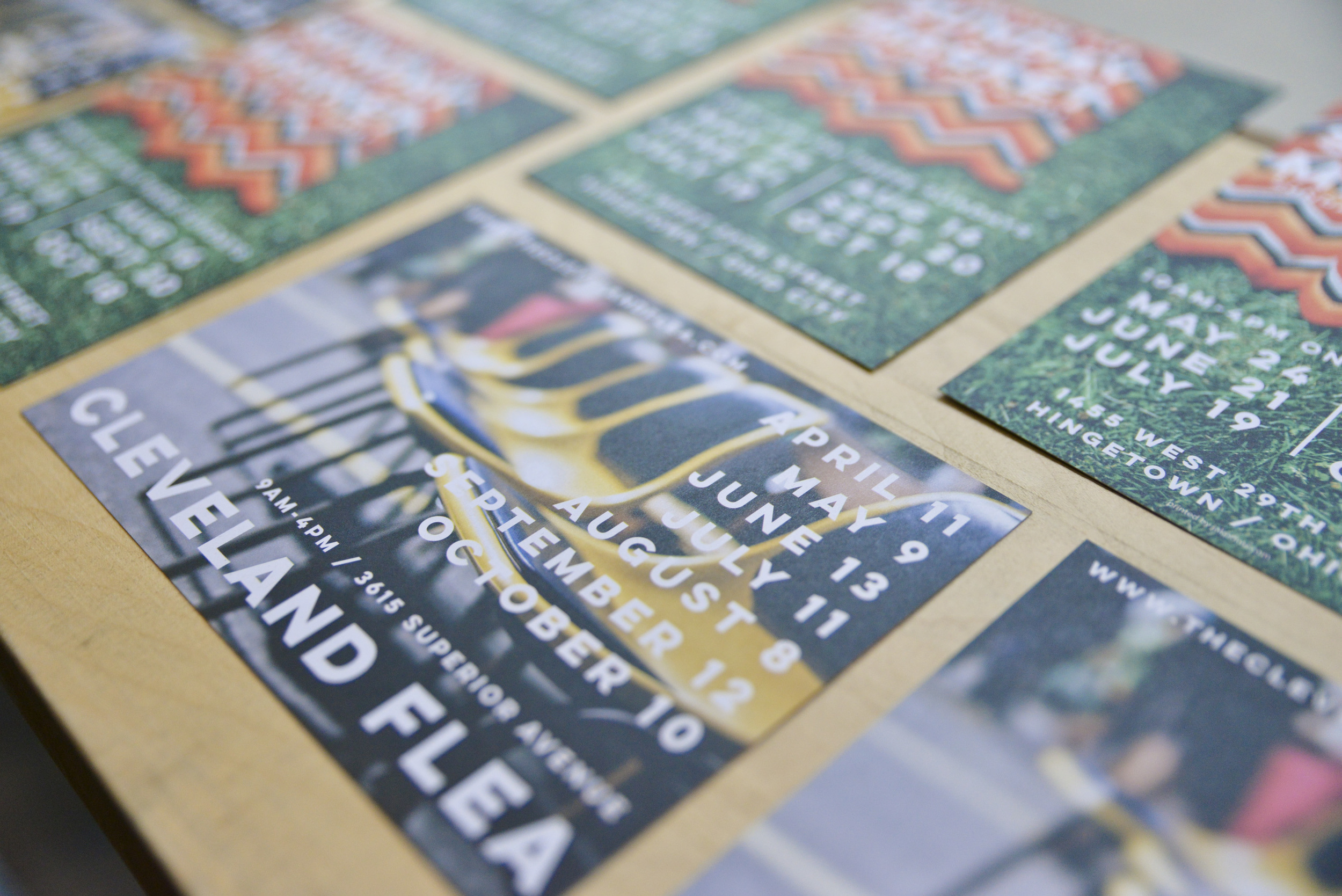 """Our seasonal postcards, printed by Jakprints. Spec:   5"""" x 7"""" 13pt Uncoated Cardstock Postcards."""