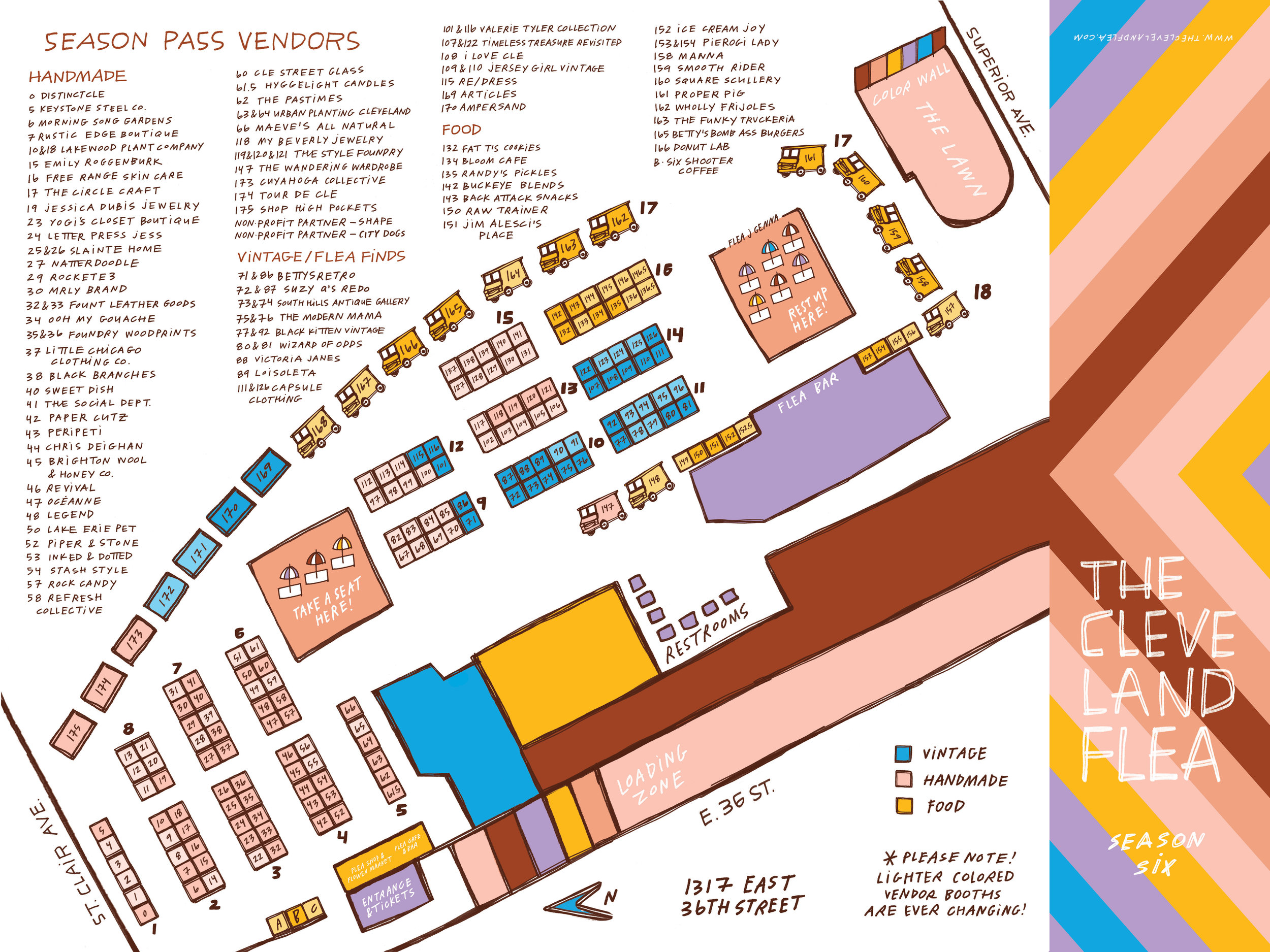Save the map as your guide to the Flea!  Artwork by Amber Esner