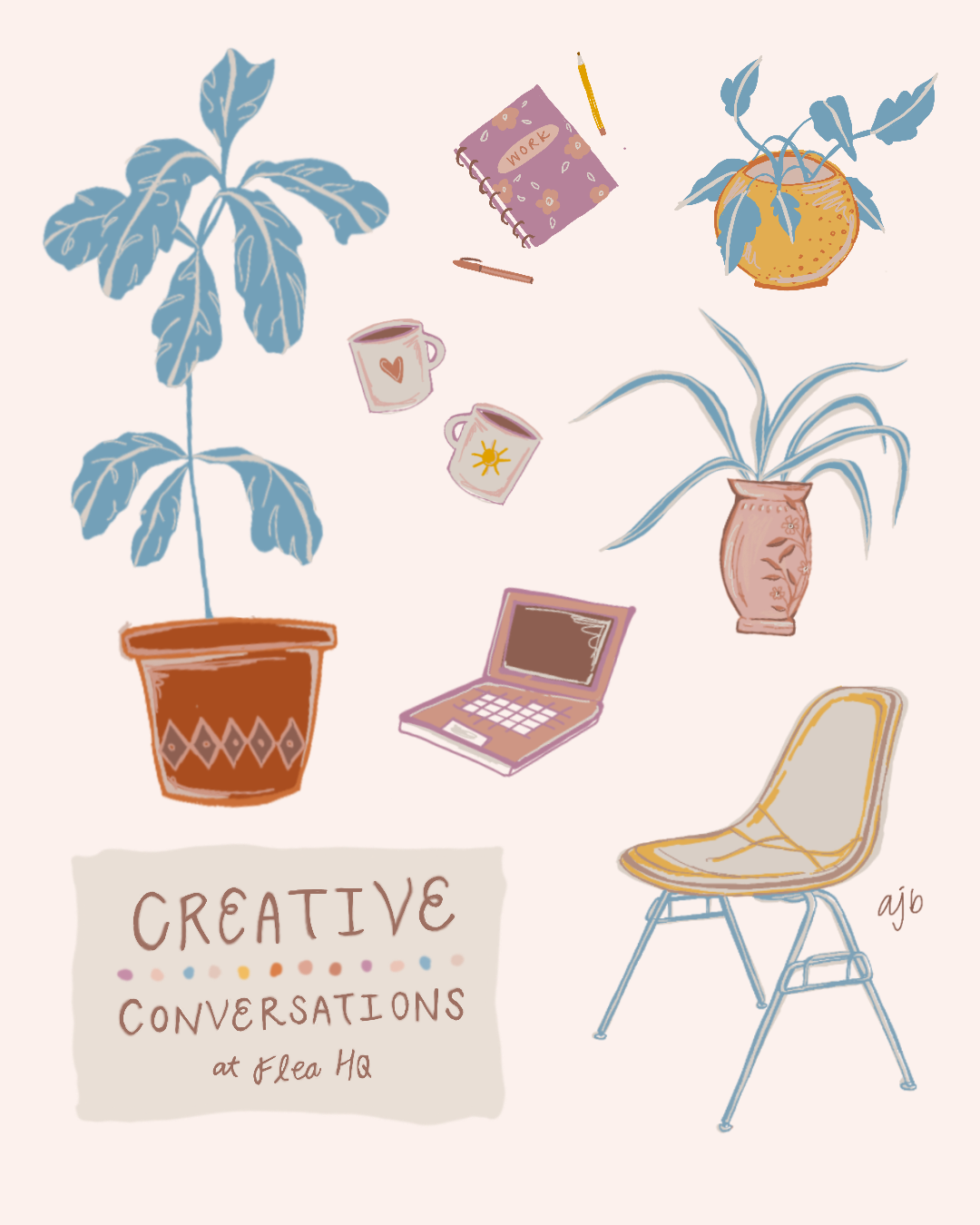 JULY EVENT | Friday, JULY 26th |open coworking with team flea between 10am - 5pm, lunch with our featured artist, buy some cool things, too. - Lunch: TBALunch Discussions: TBALocation: TBAPop-Up Business: TBA