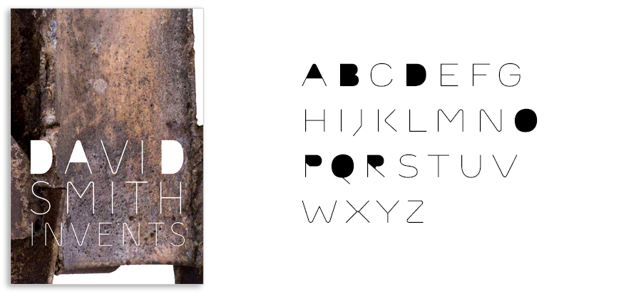 The typeface Outliner was used on the cover to recall shapes in Smith's welded metal work.