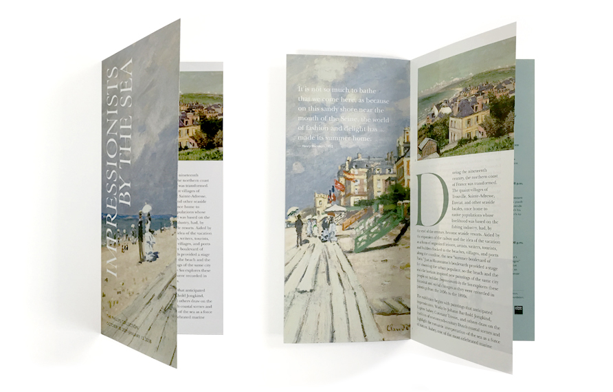 """Gallery brochure for The Phillips Collection's """"Impressionists By The Sea"""" exhibition"""