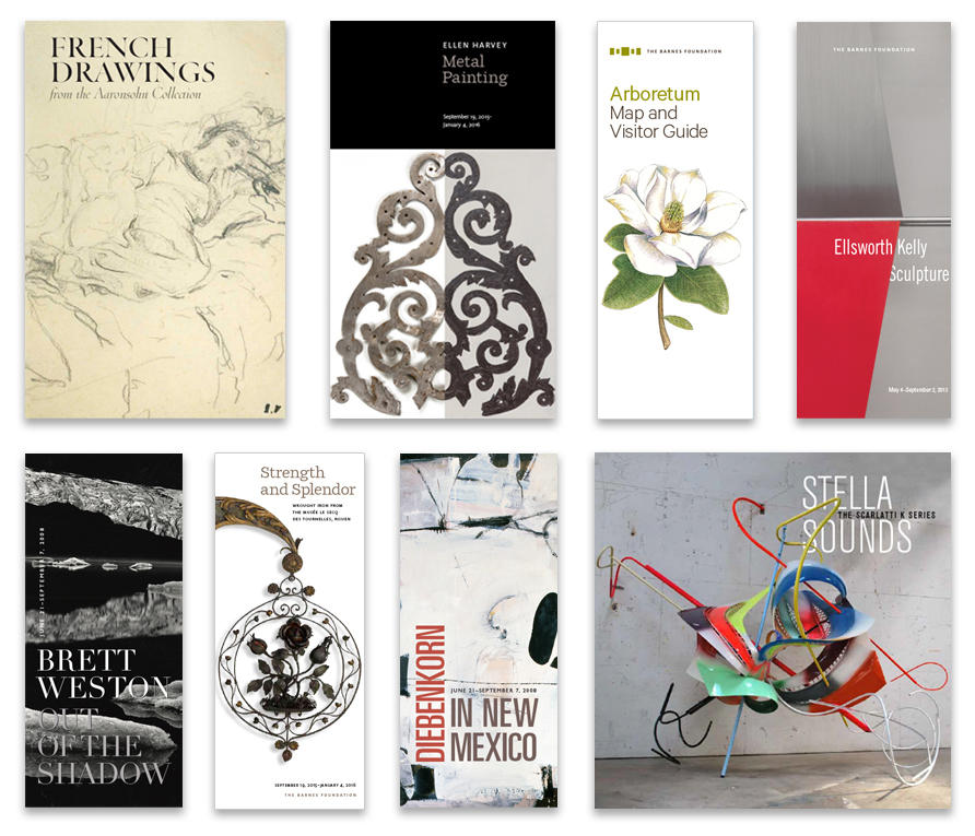 Above: a range of gallery guide covers from past exhibitions