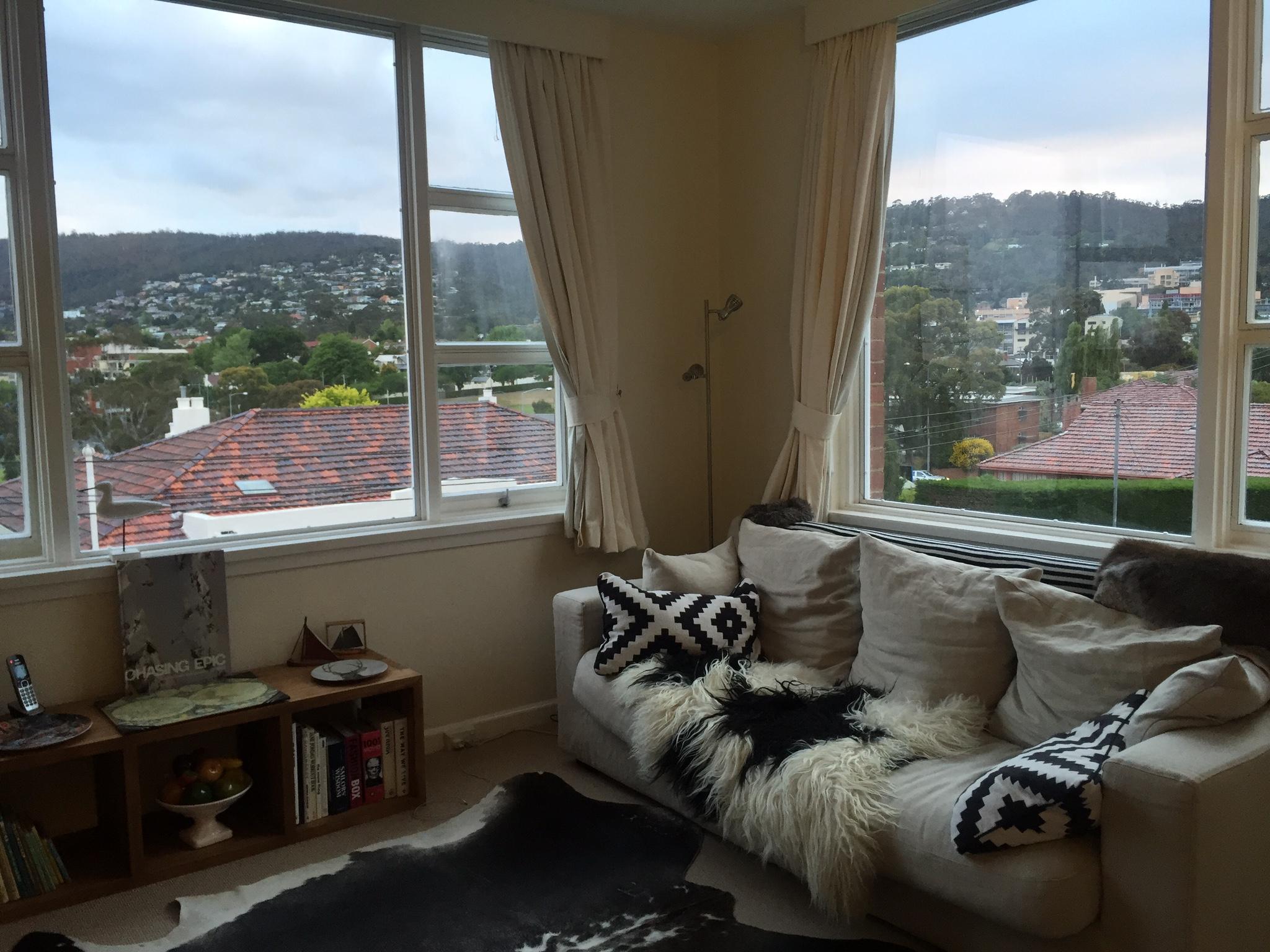 Our Airbnb flat in Hobart, Tasmania