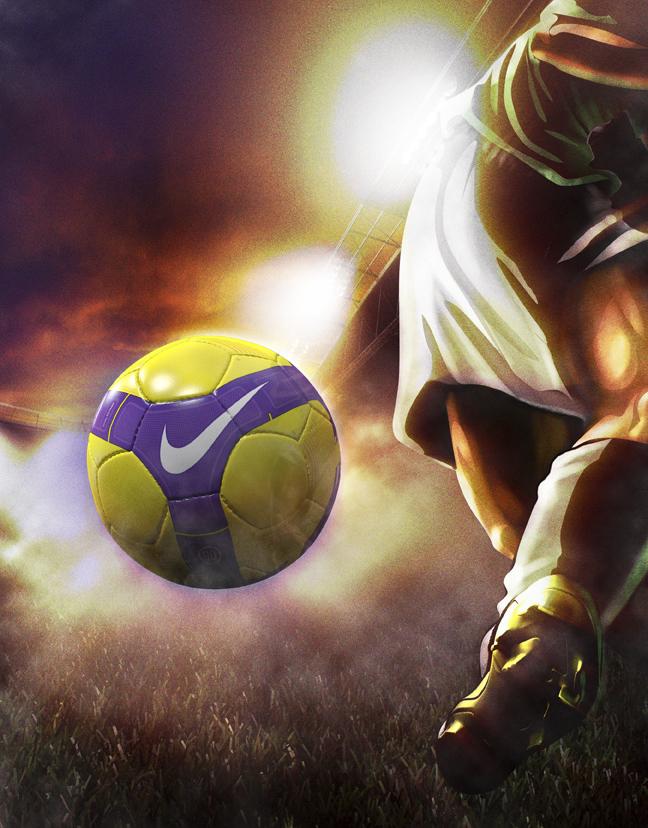 NIKE T90 Strike Hi-Vis Soccer Ball
