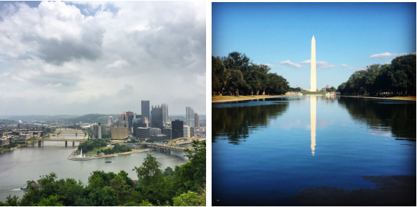 Pittsburgh and DC - two of my favorite places in the world!