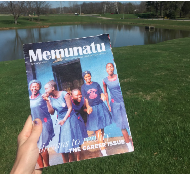 I interned at   Memunatu   last spring, which is a magazine distributed to teenage girls in West Africa - but it operates right here in DC!