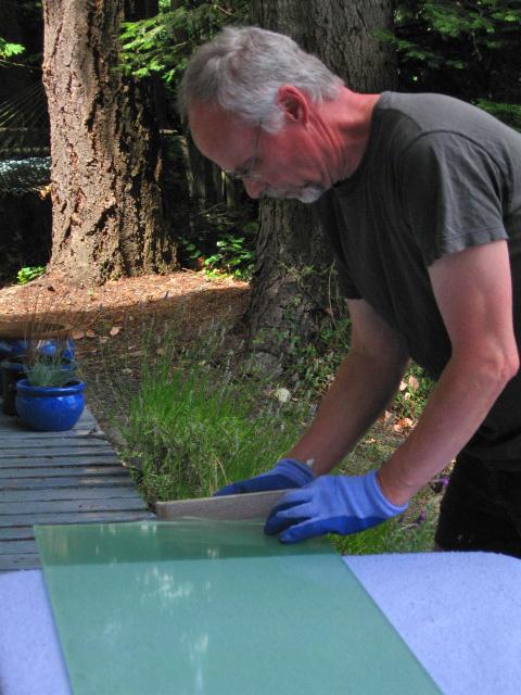sanding far edge for table fit