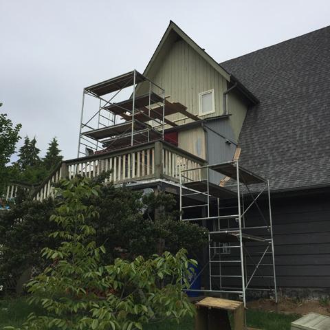 rear upper Dormer in progress