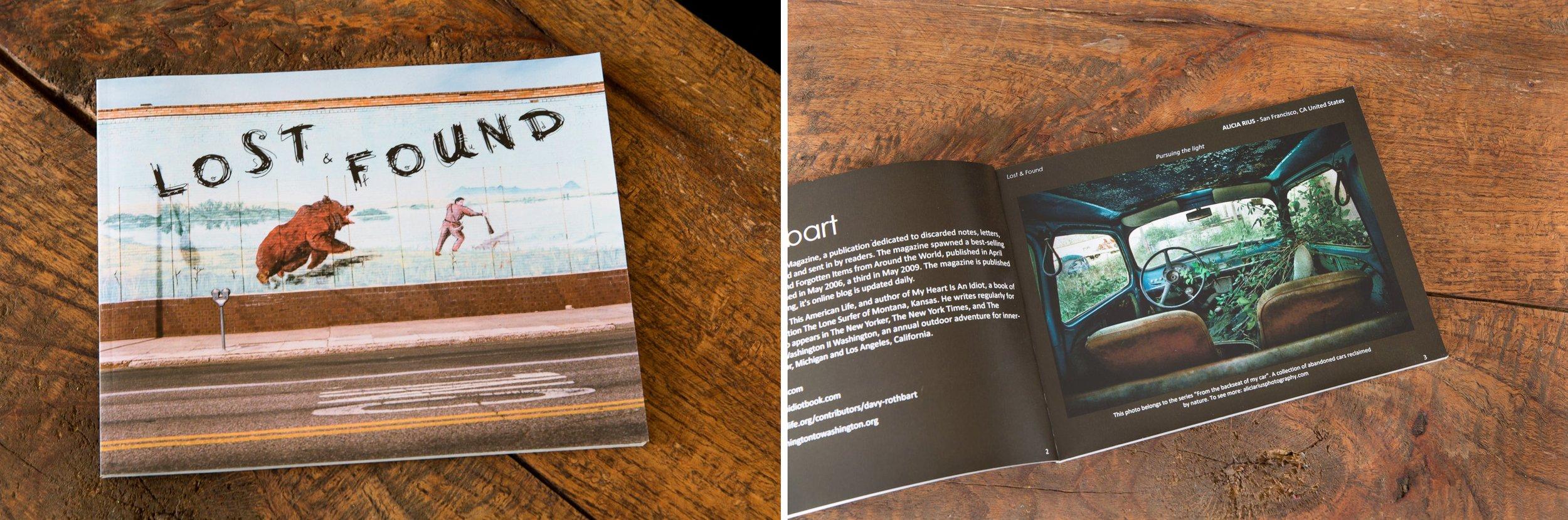 "Darkroom gallery ""Lost & Found"" photography Awards book (Vermont, United States)."