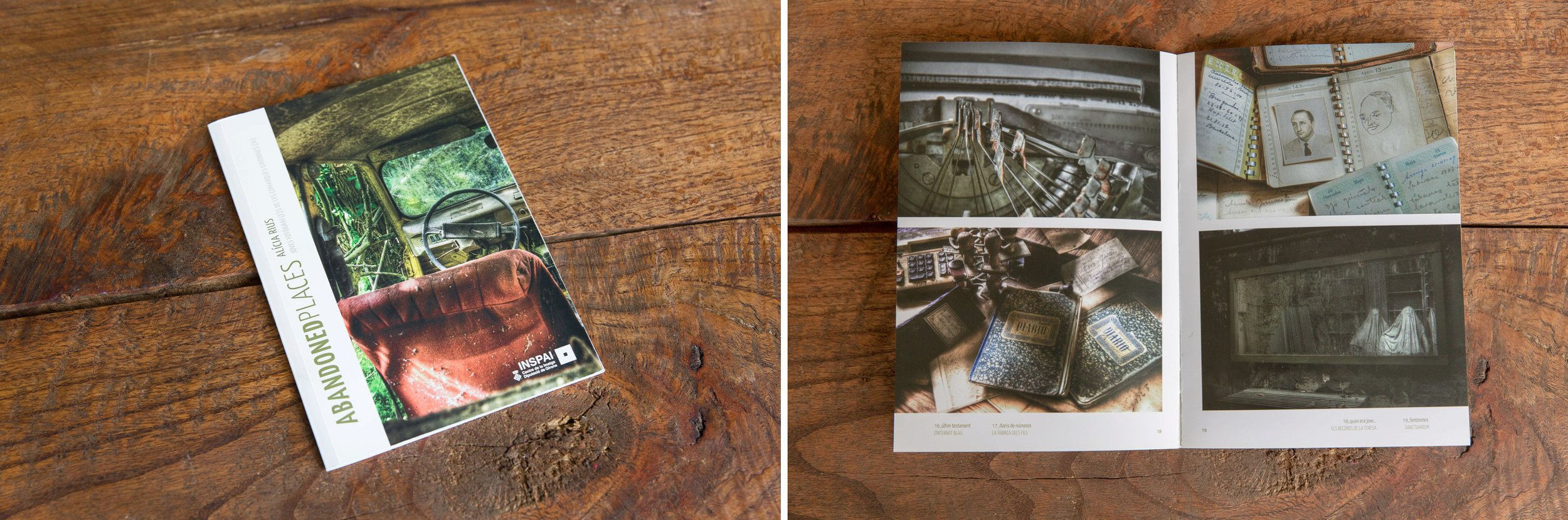 """""""Abandoned Places"""" book (Barcelona, Spain)."""