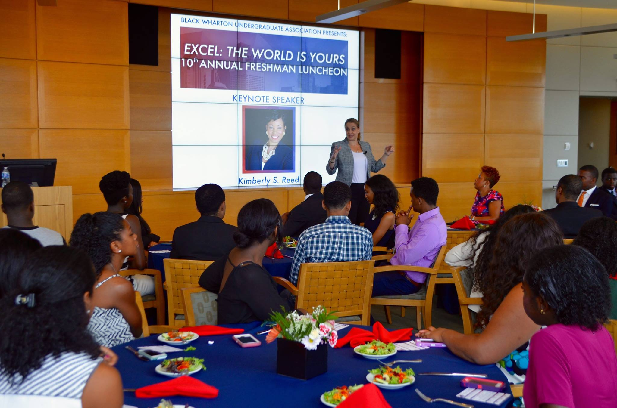 Vice Dean Lori Rosenkopf educates freshmen on the multiple resources they have at their fingertips to help them succeed at Penn. It's a journey from start to finish and freshmen got plenty of tips from the Vice Dean on how to navigate their lives at Penn.