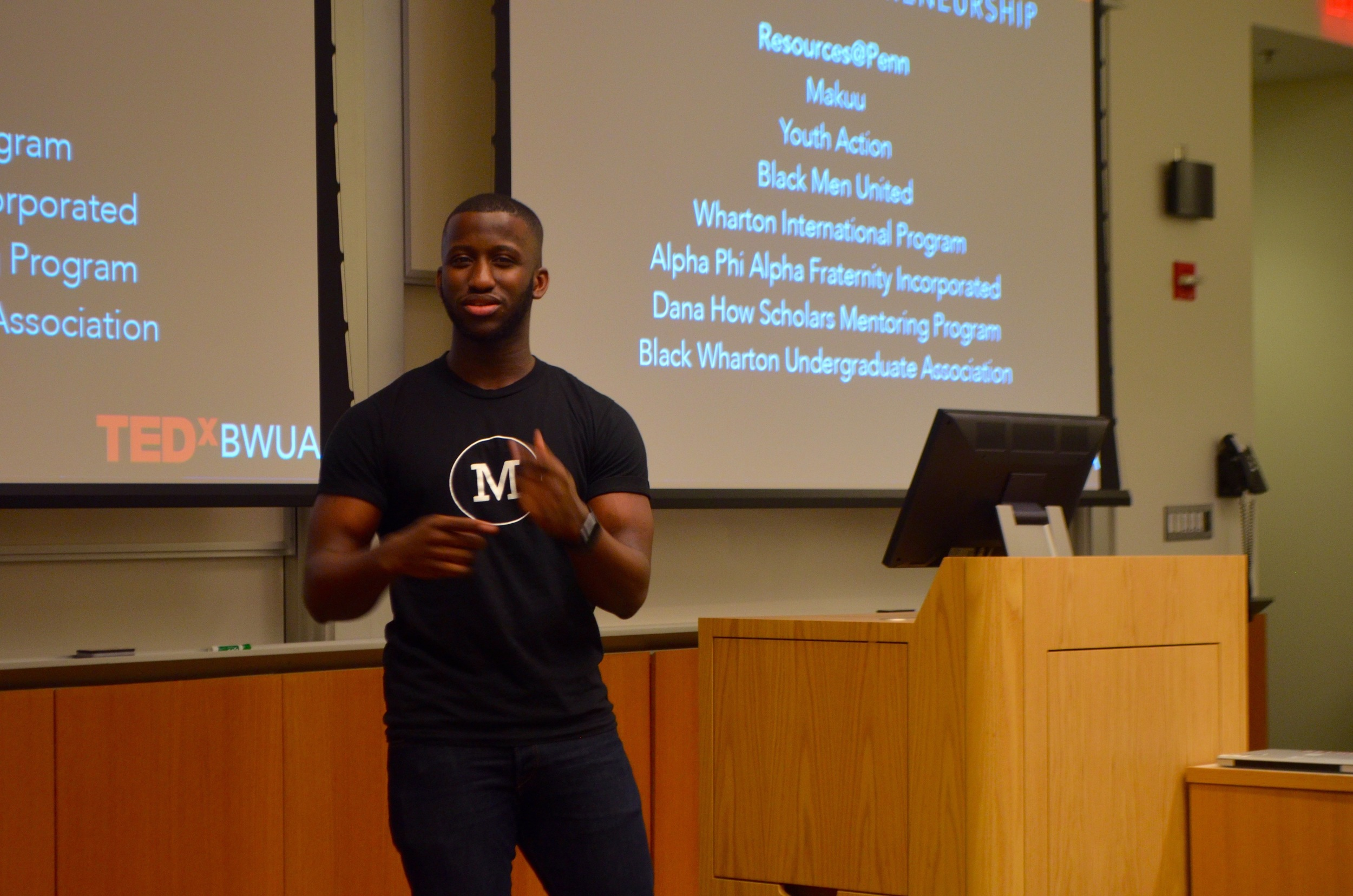 TEDx Speaker and BWUA President, Anthony Perry