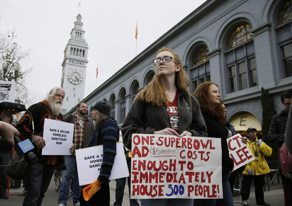The Super Bowl and a Broken San Francisco  The championship game descends on a city failing to deal with questions of affordability and inclusion.