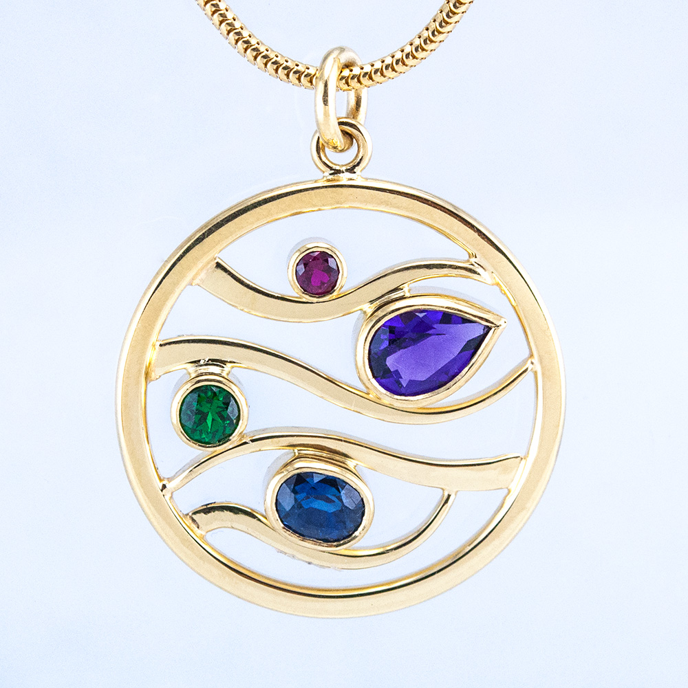 Journeys Family Pendant with Birthsones