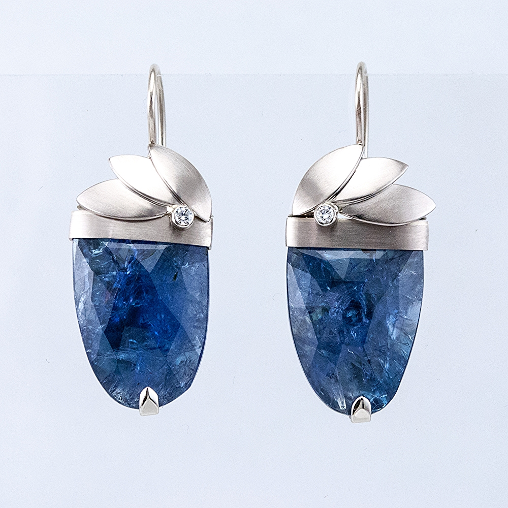 Crested Tanzanite Earrings