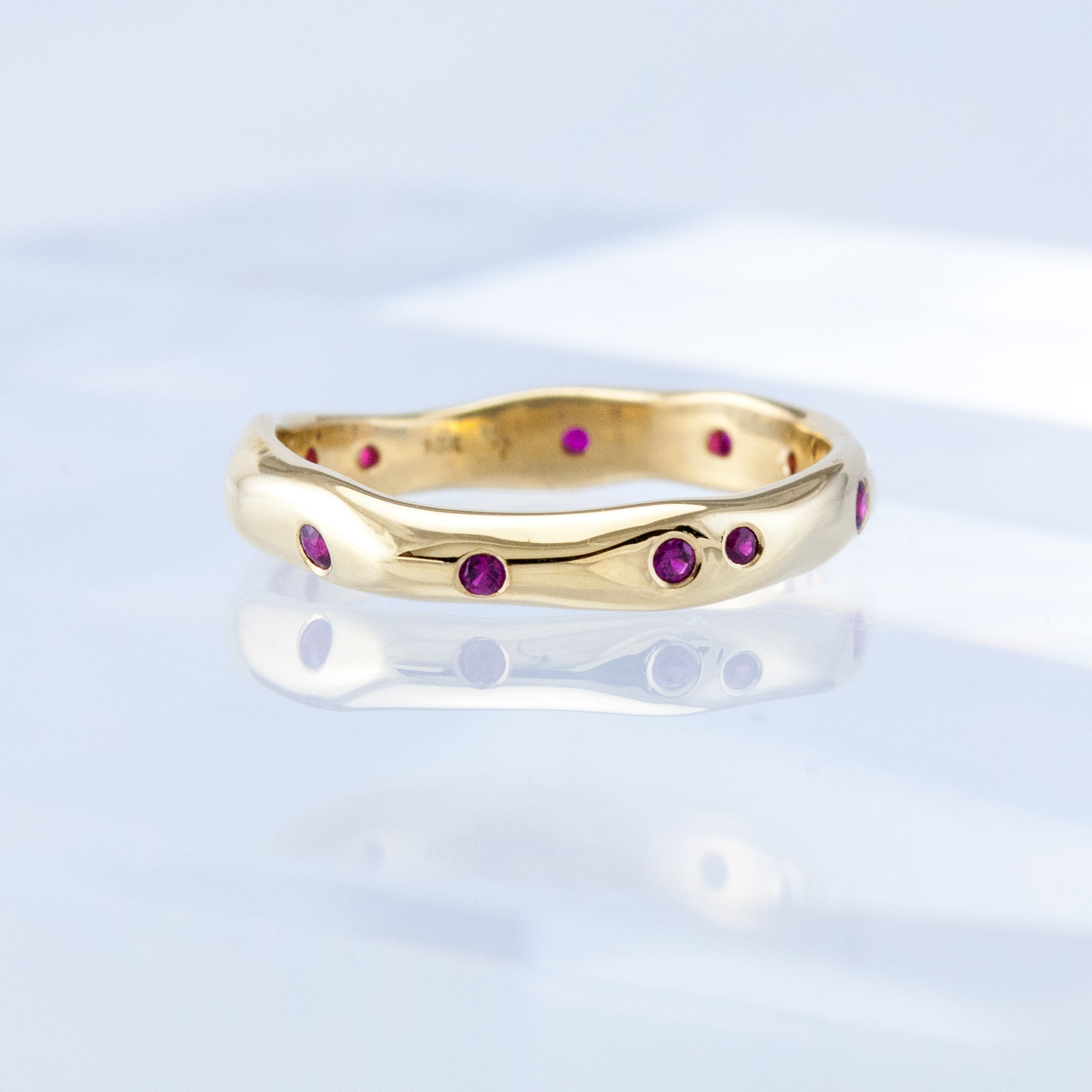 Driftwood Ring with Rubies