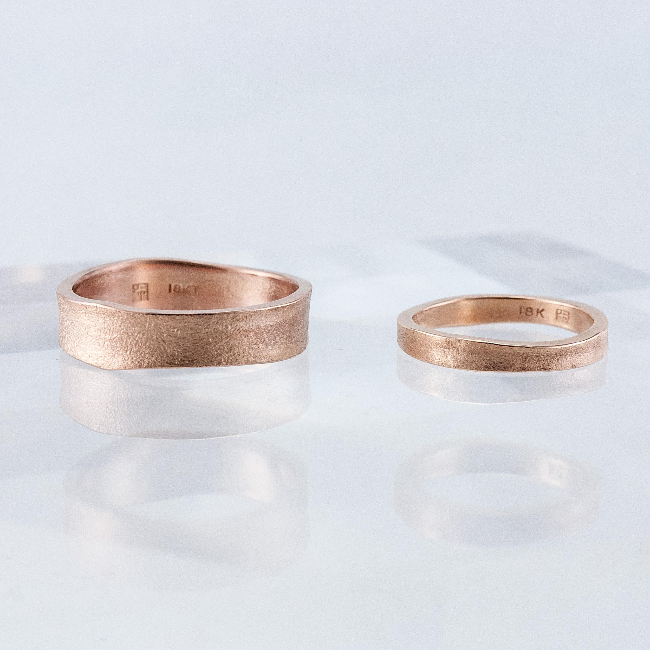 Pair of Rose Gold Desert Bands