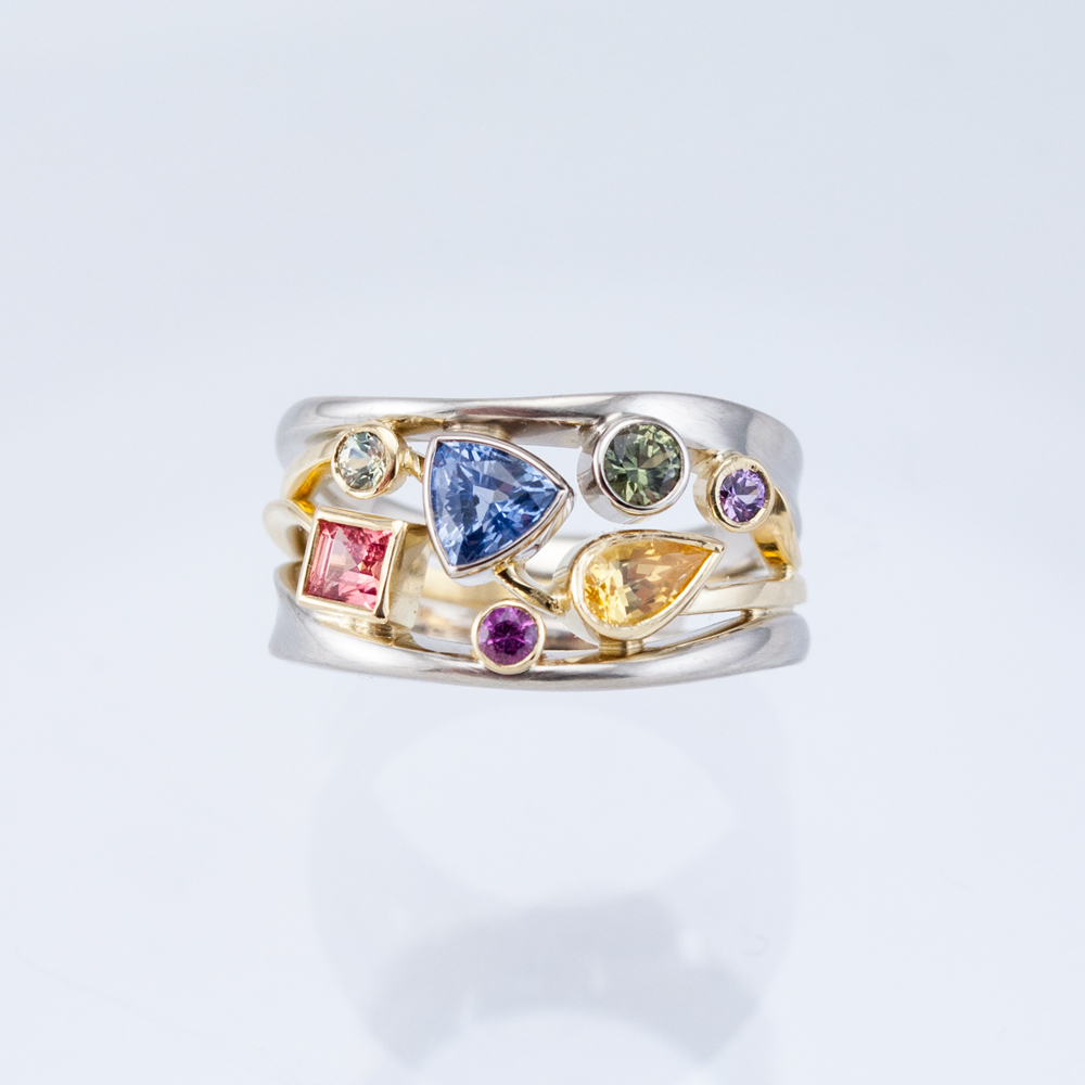 Constellation Ring with Fancy Sapphires