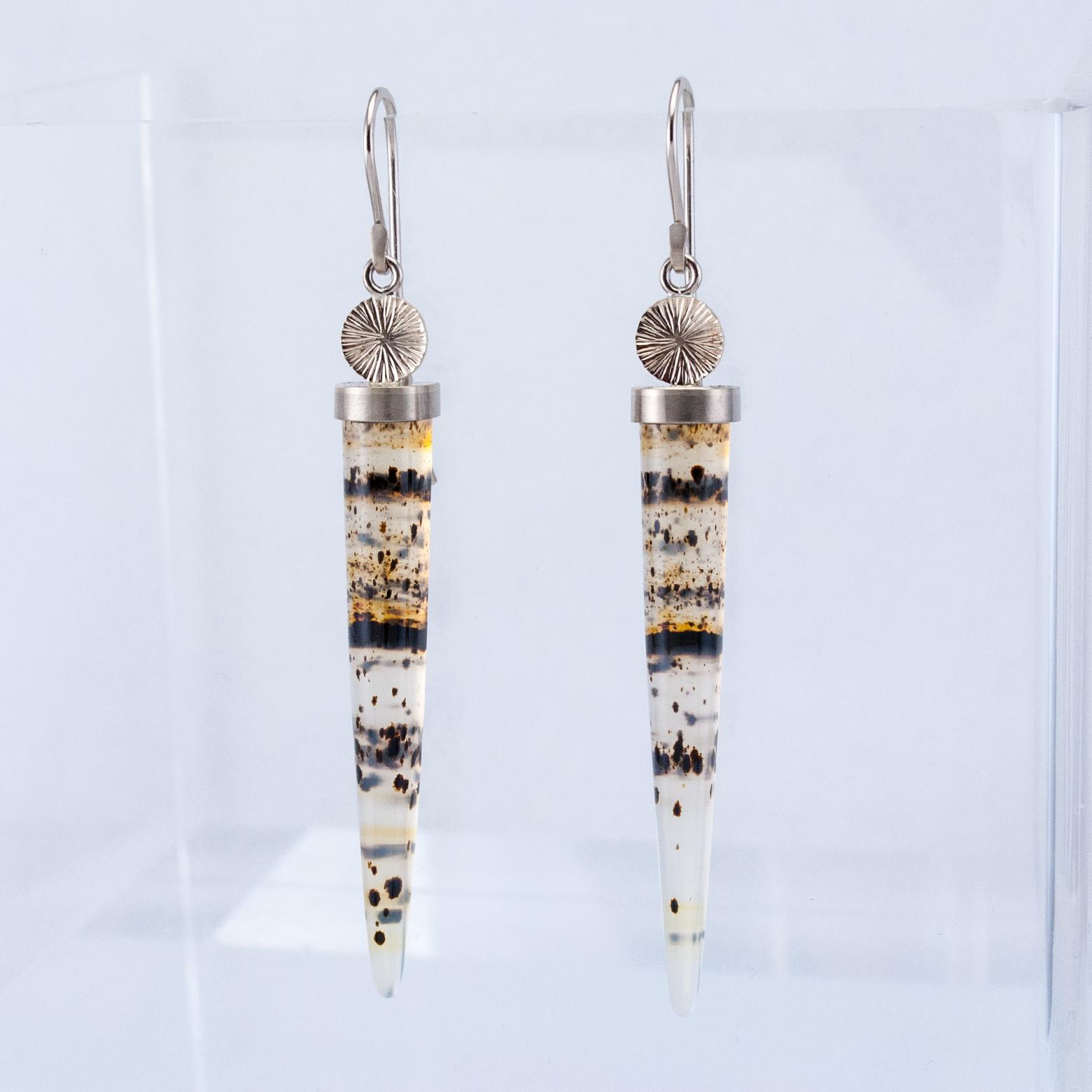 Snow Leopard Drop Earrings
