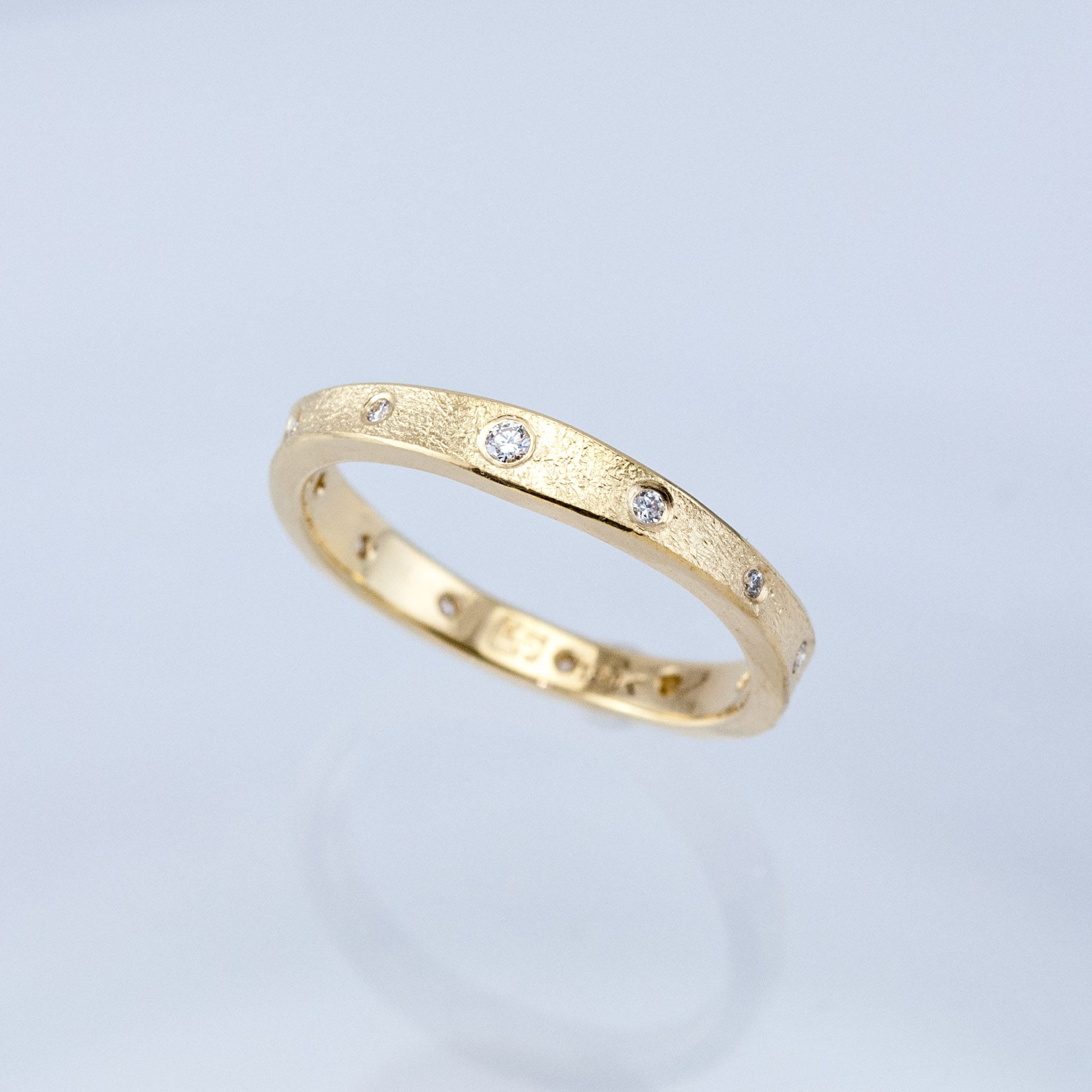 Gold Desert Eternity Diamond Band
