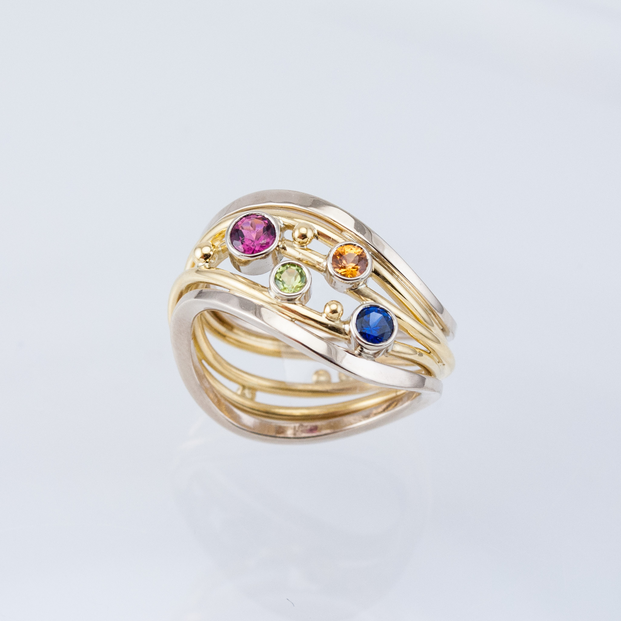Tideline Ring with Birthstones