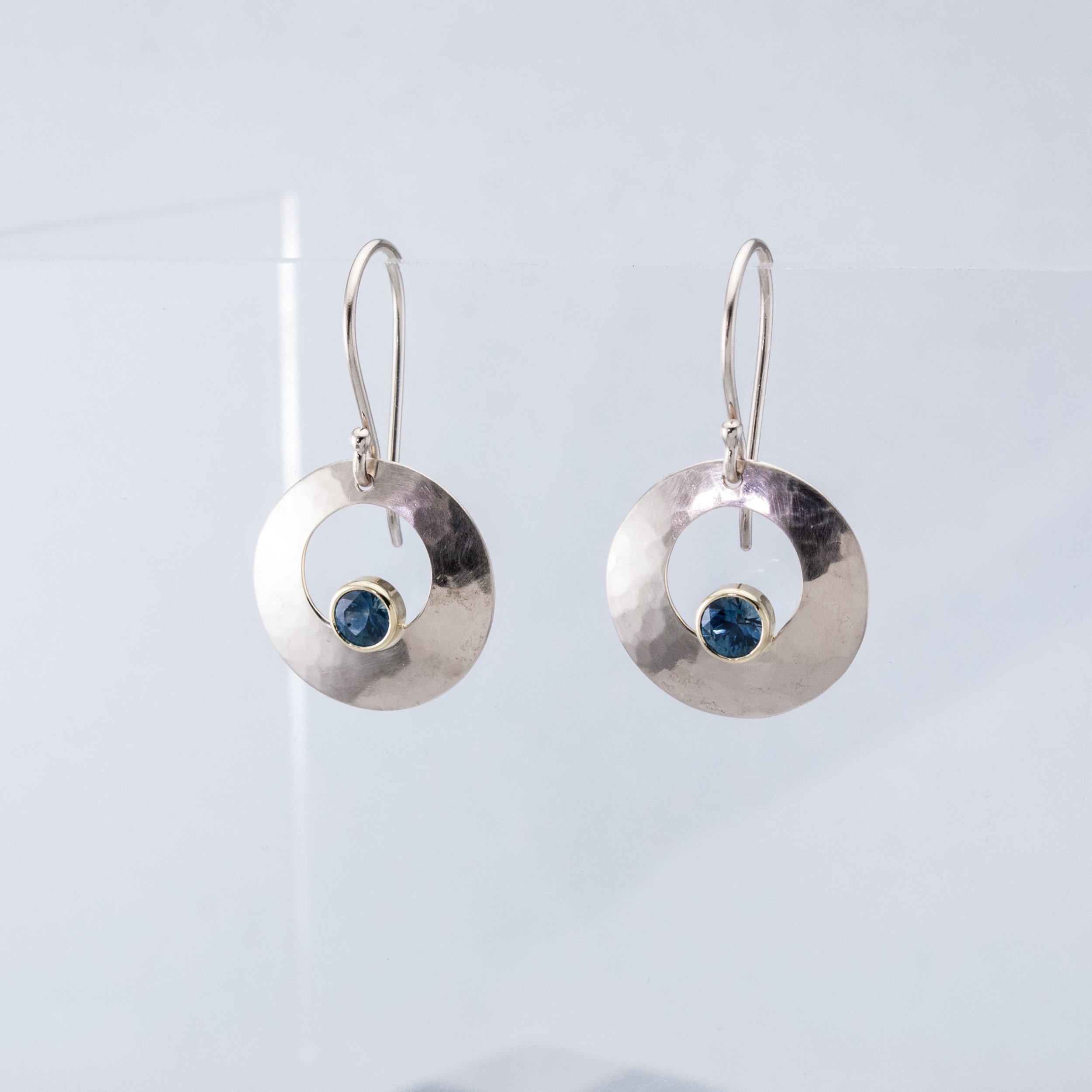 Luna Earrings with Montana Sapphires