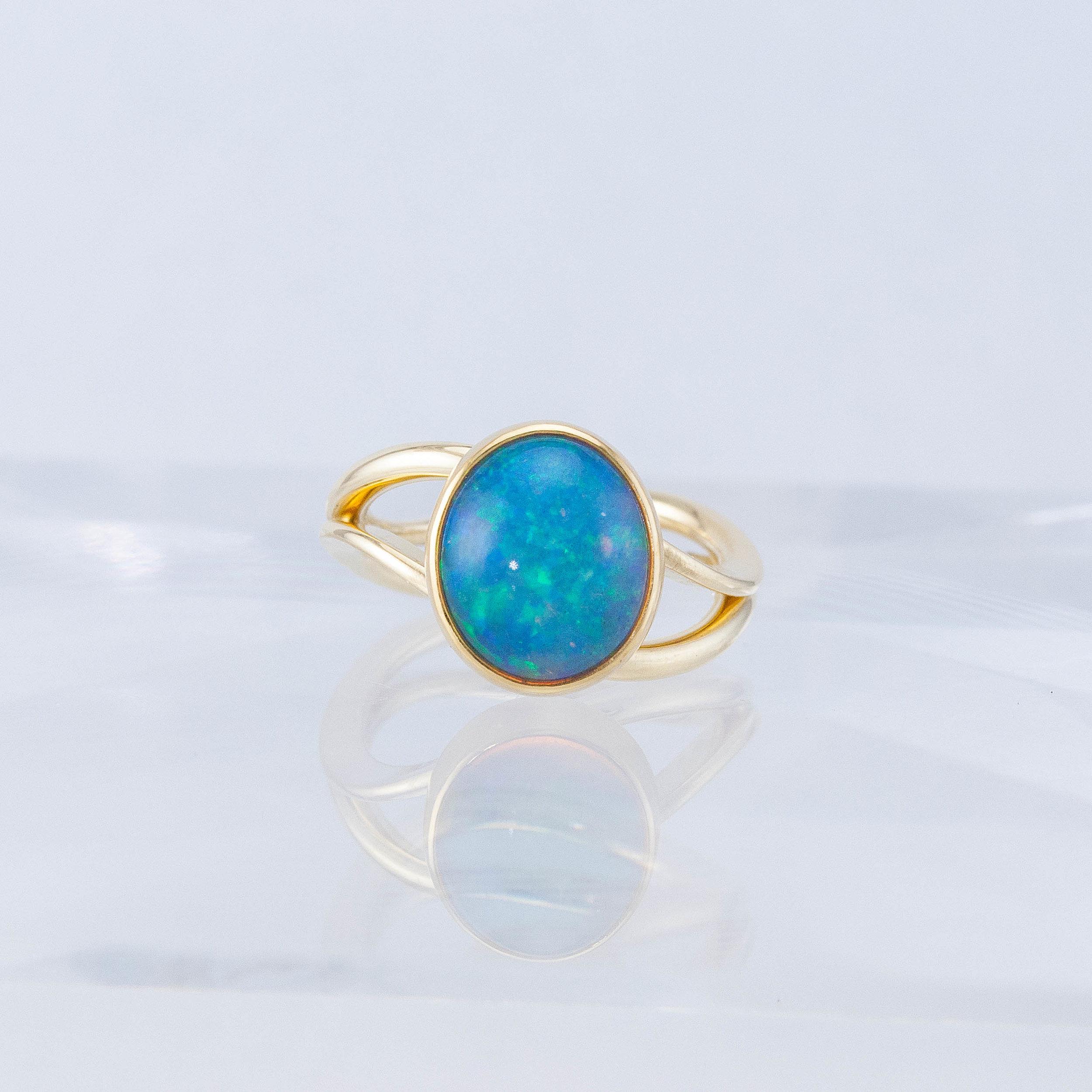 Custom Opal Duality Ring