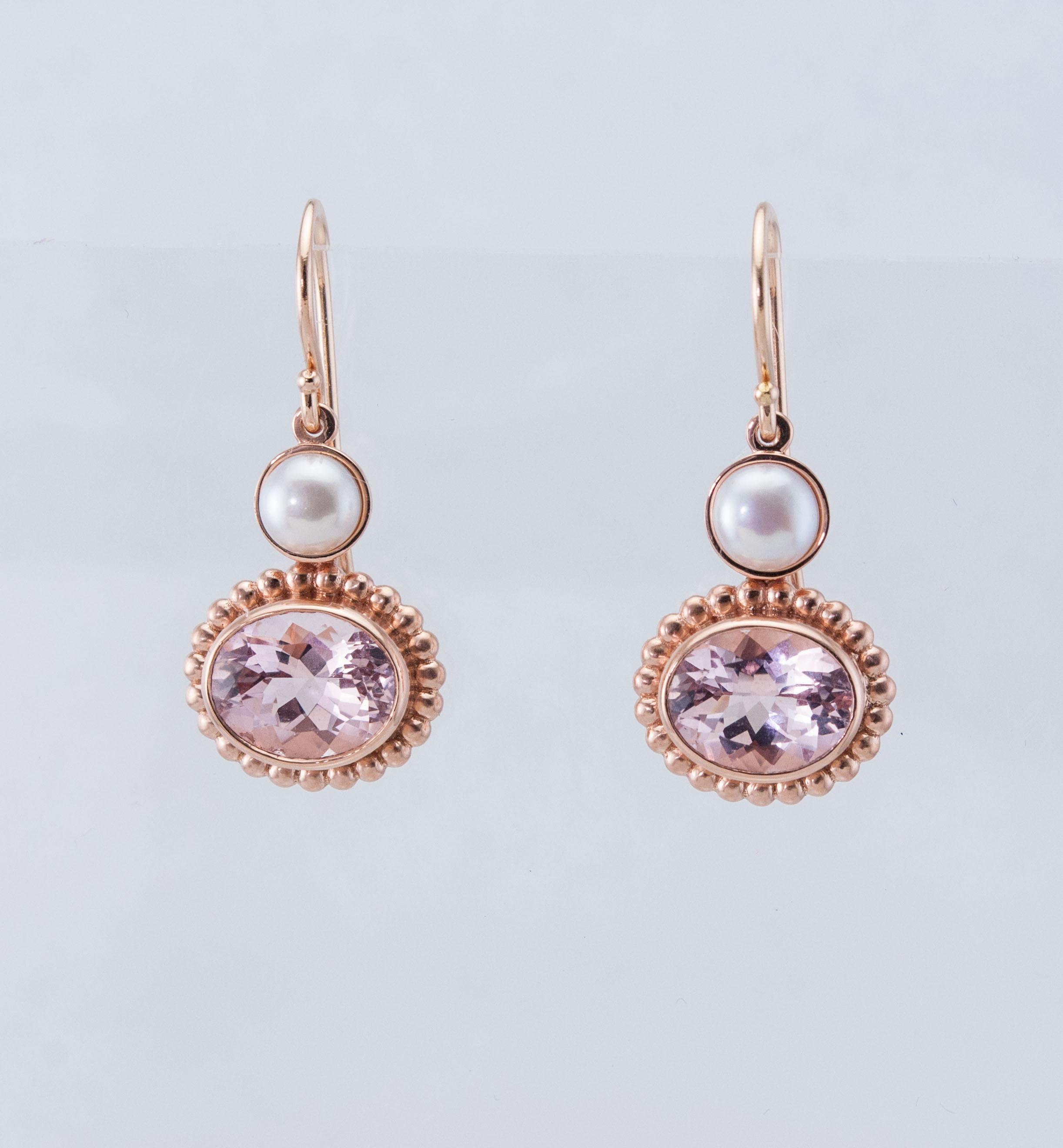 Rose Gold and Morganite Earrings