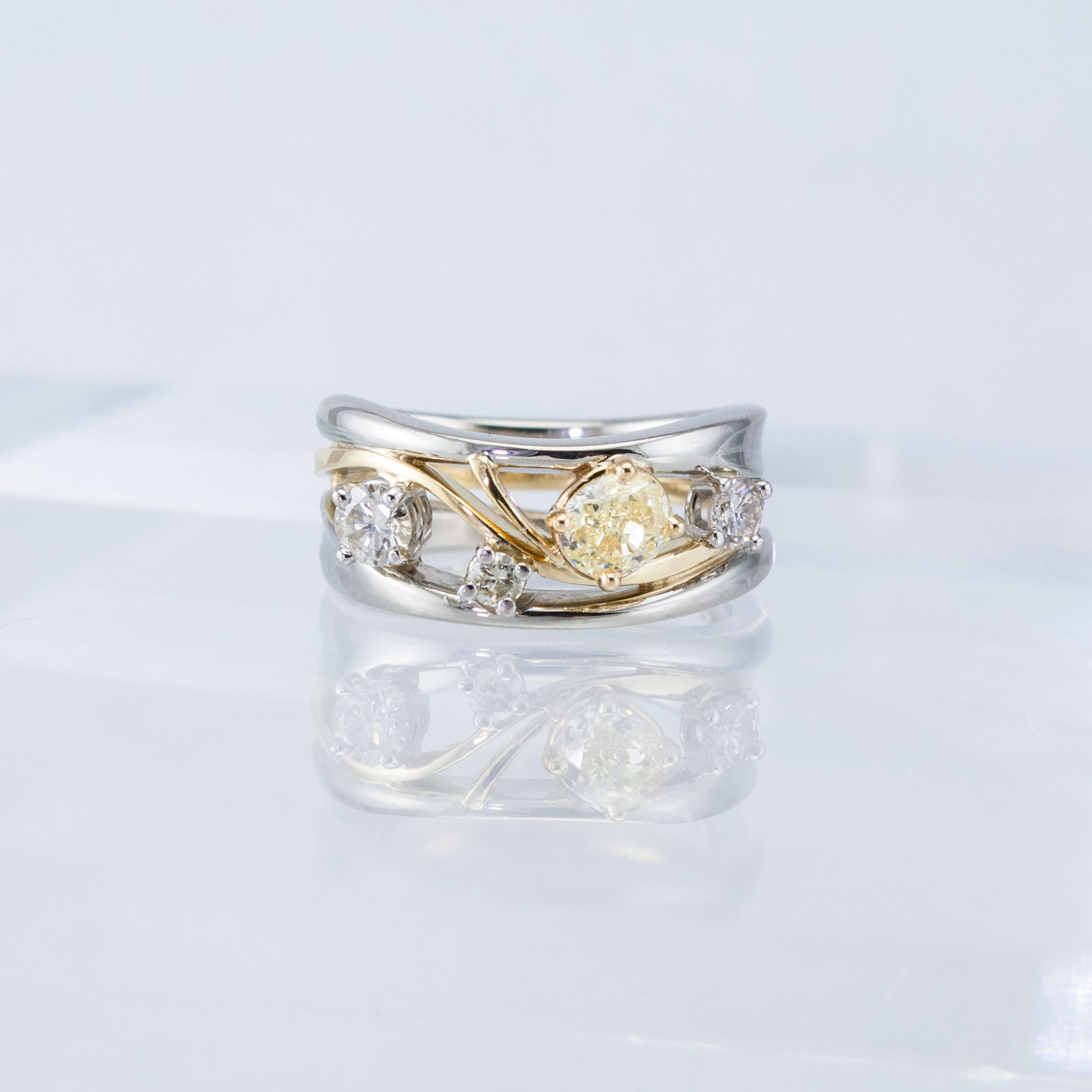 Constellation Ring with Fancy Yellow Diamond