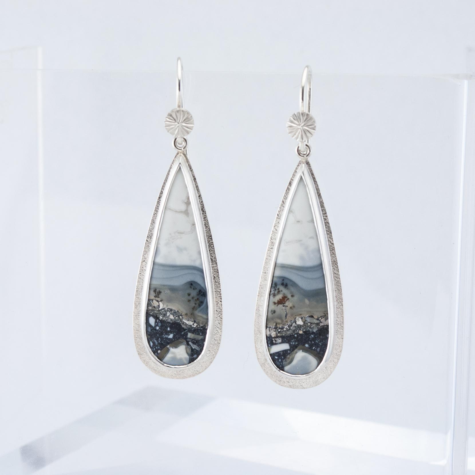 Malagano Jasper Long Drop Earrings