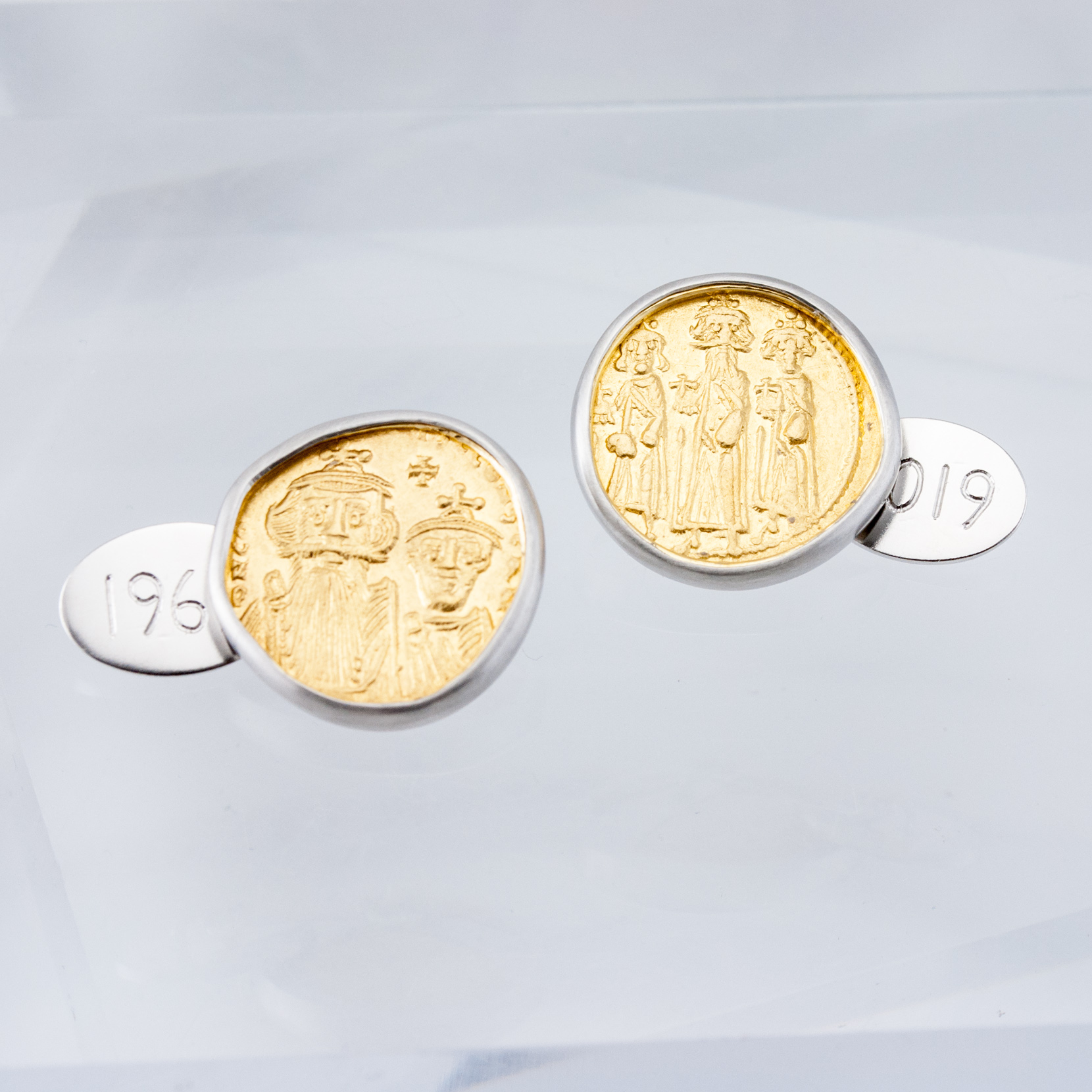 Ancient Gold Coin Cufflinks