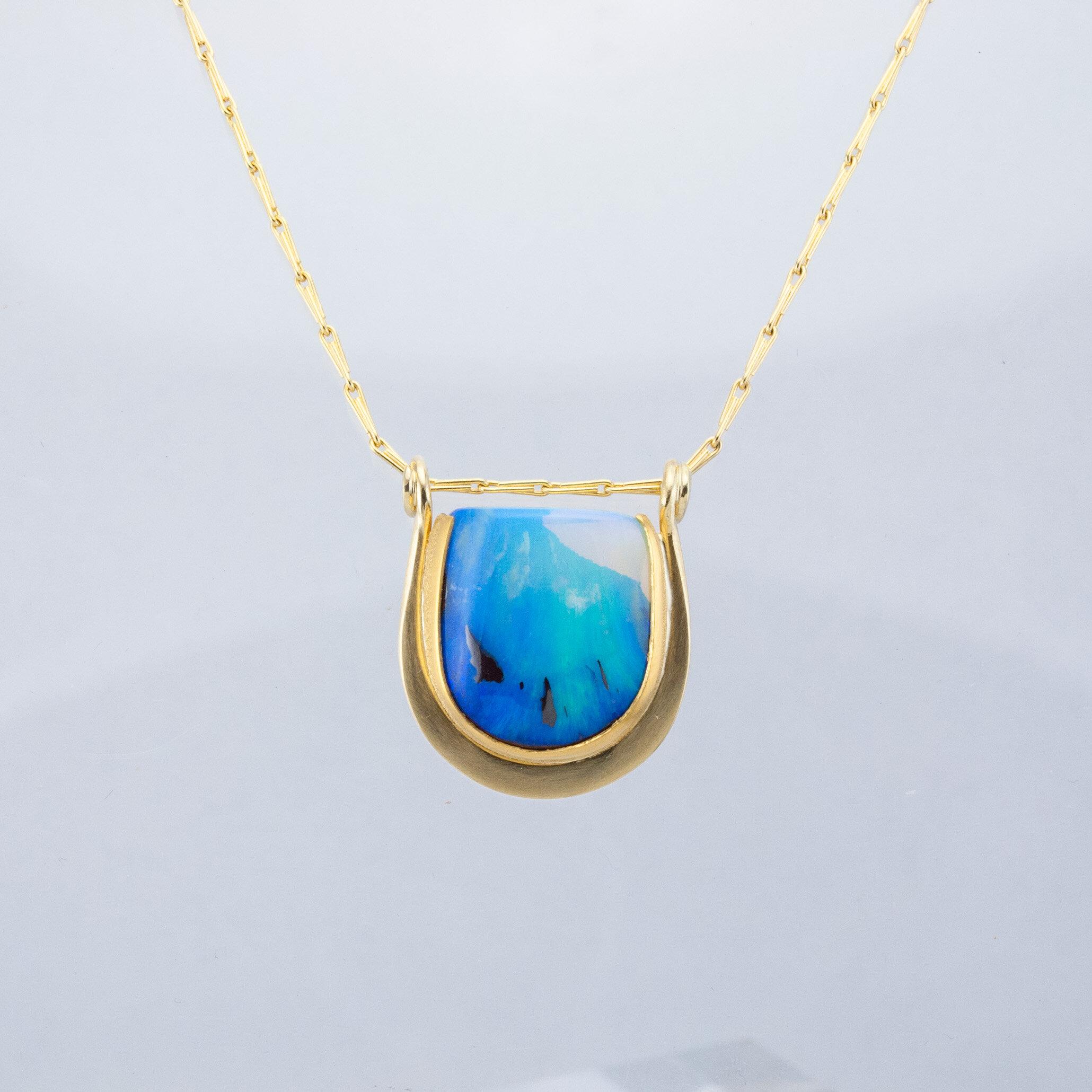 """""""Horseshoe"""" Opal Pendant"""