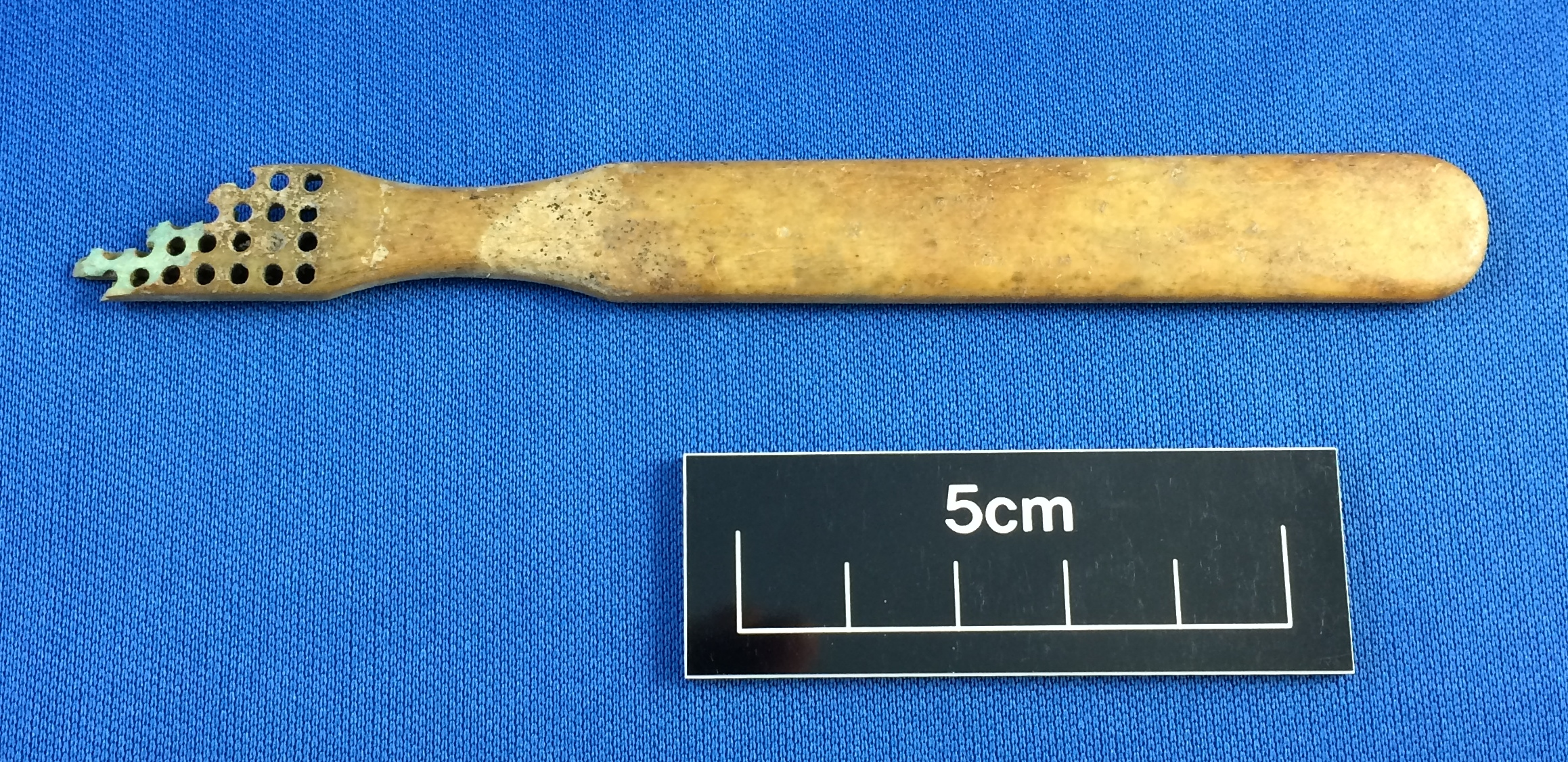 Bone toothbrush from the Cottage Hospital