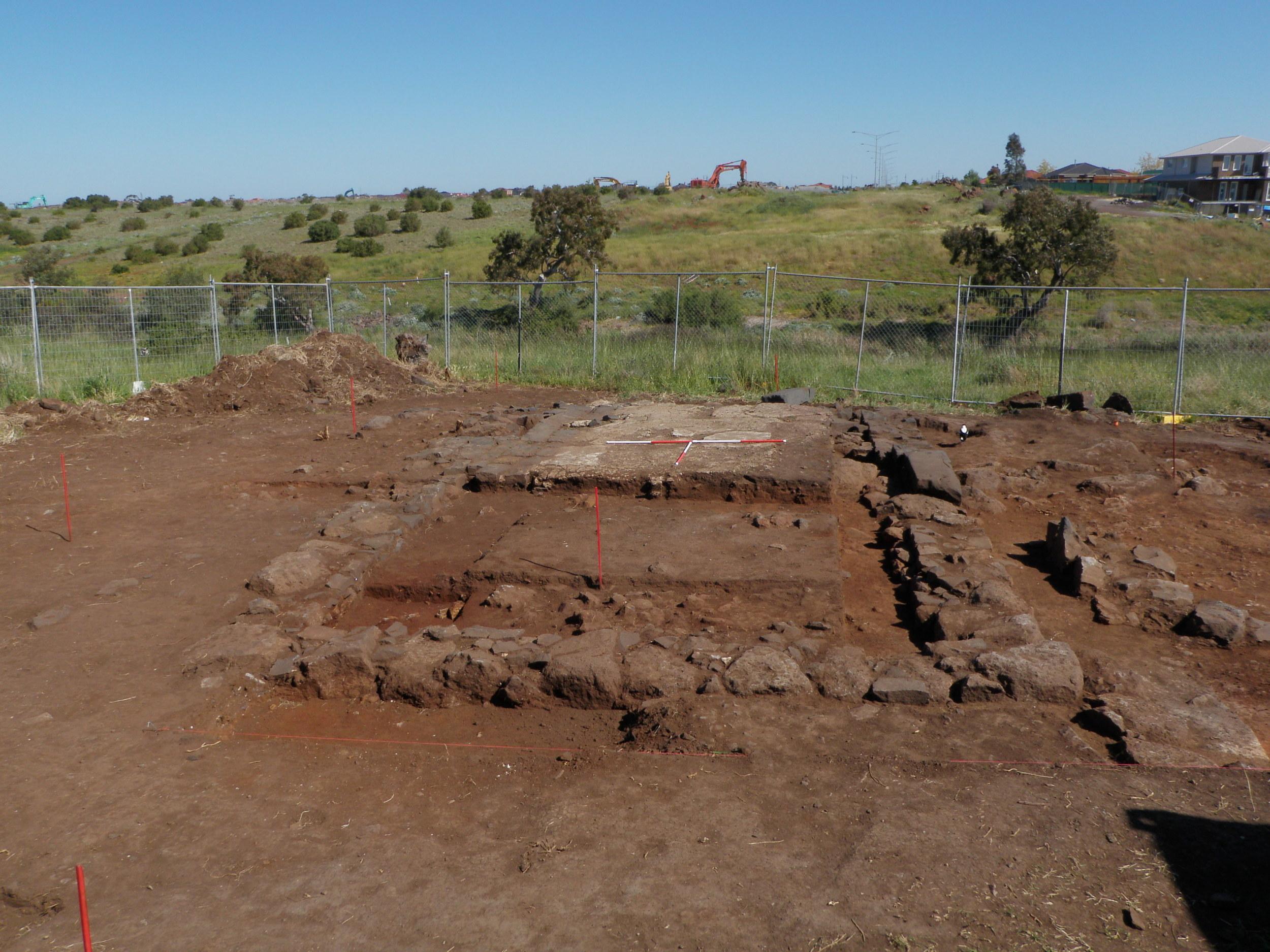 Mid excavation