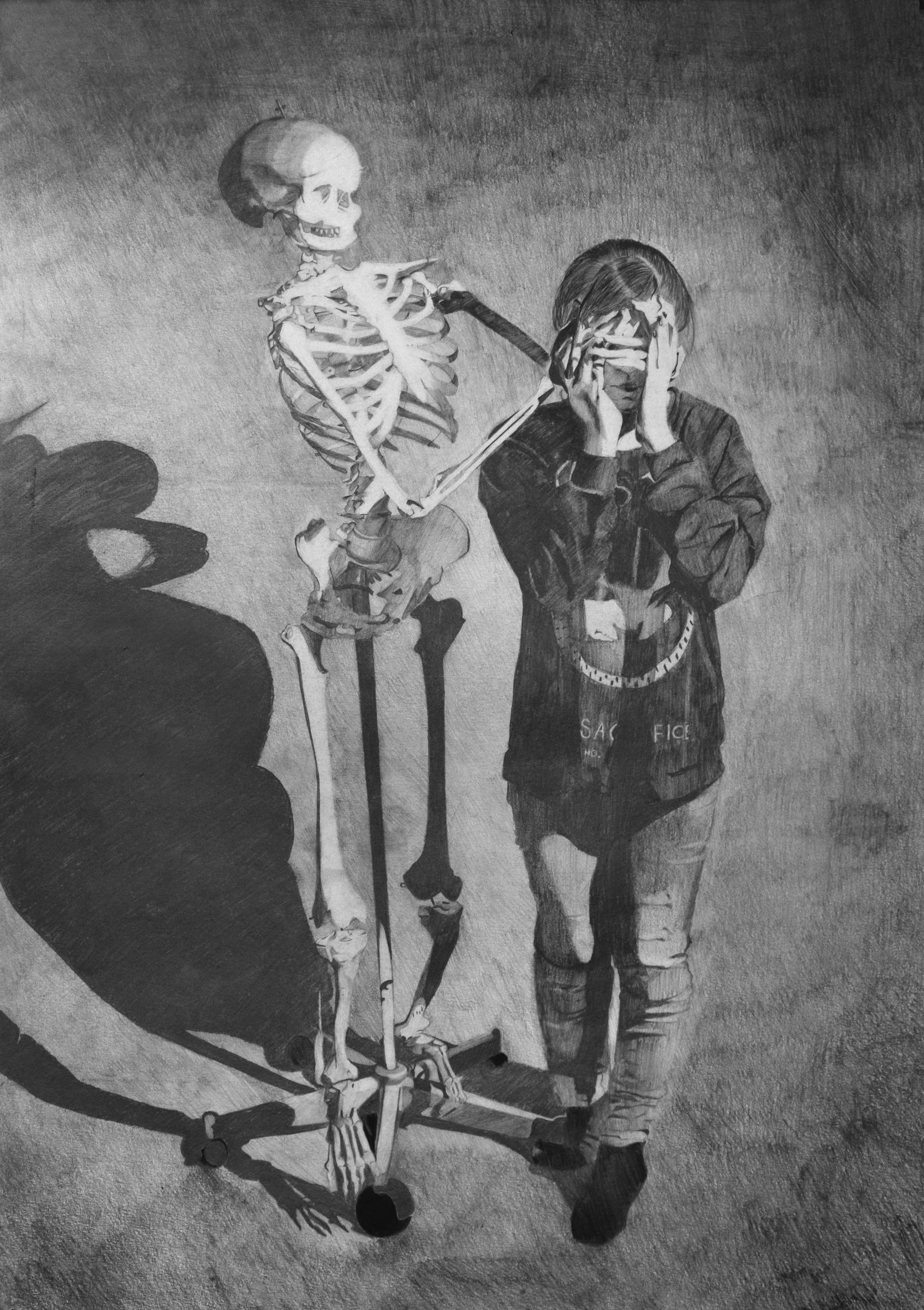Portrait with Skeleton