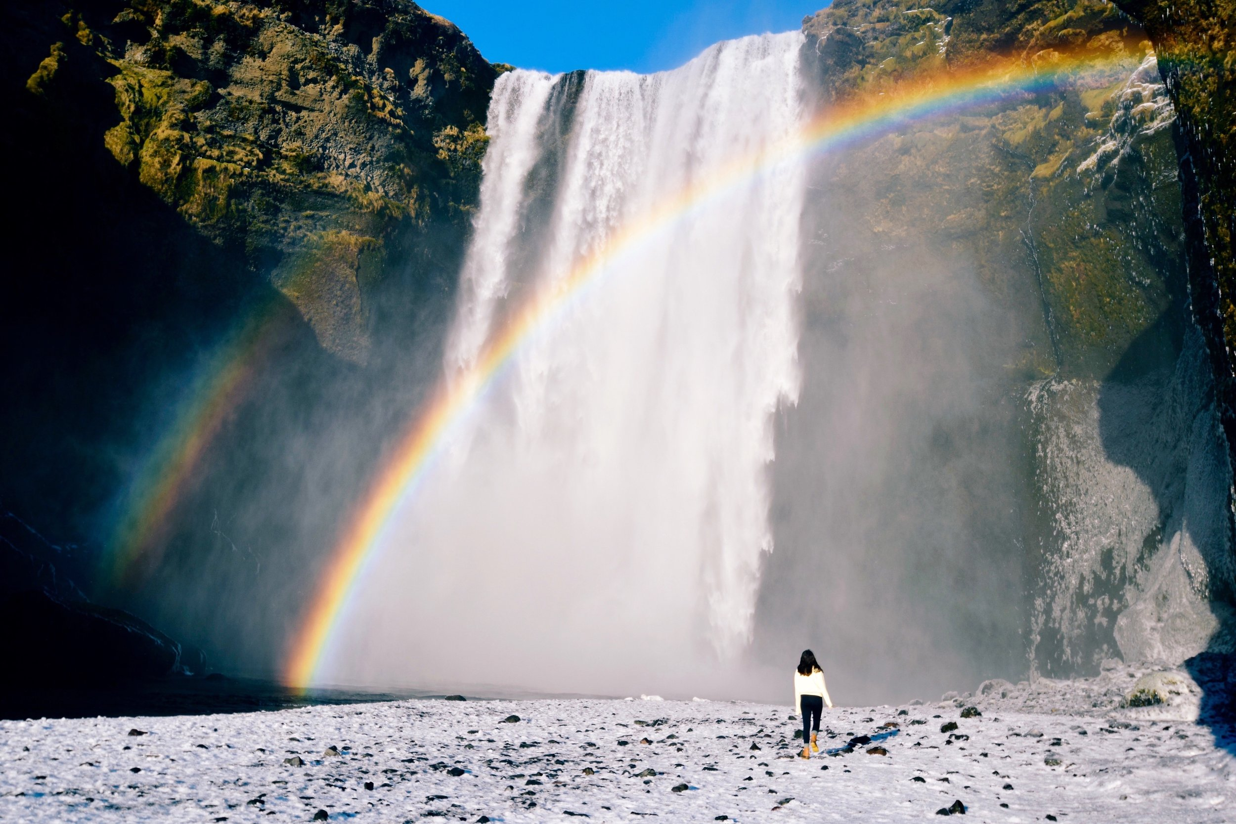 Rainbow over Rangarping, Iceland