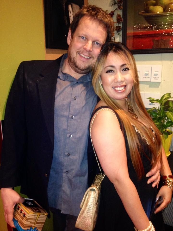 Reuel and his wife Len at the Meridian Systems Christmas Party in 2013.