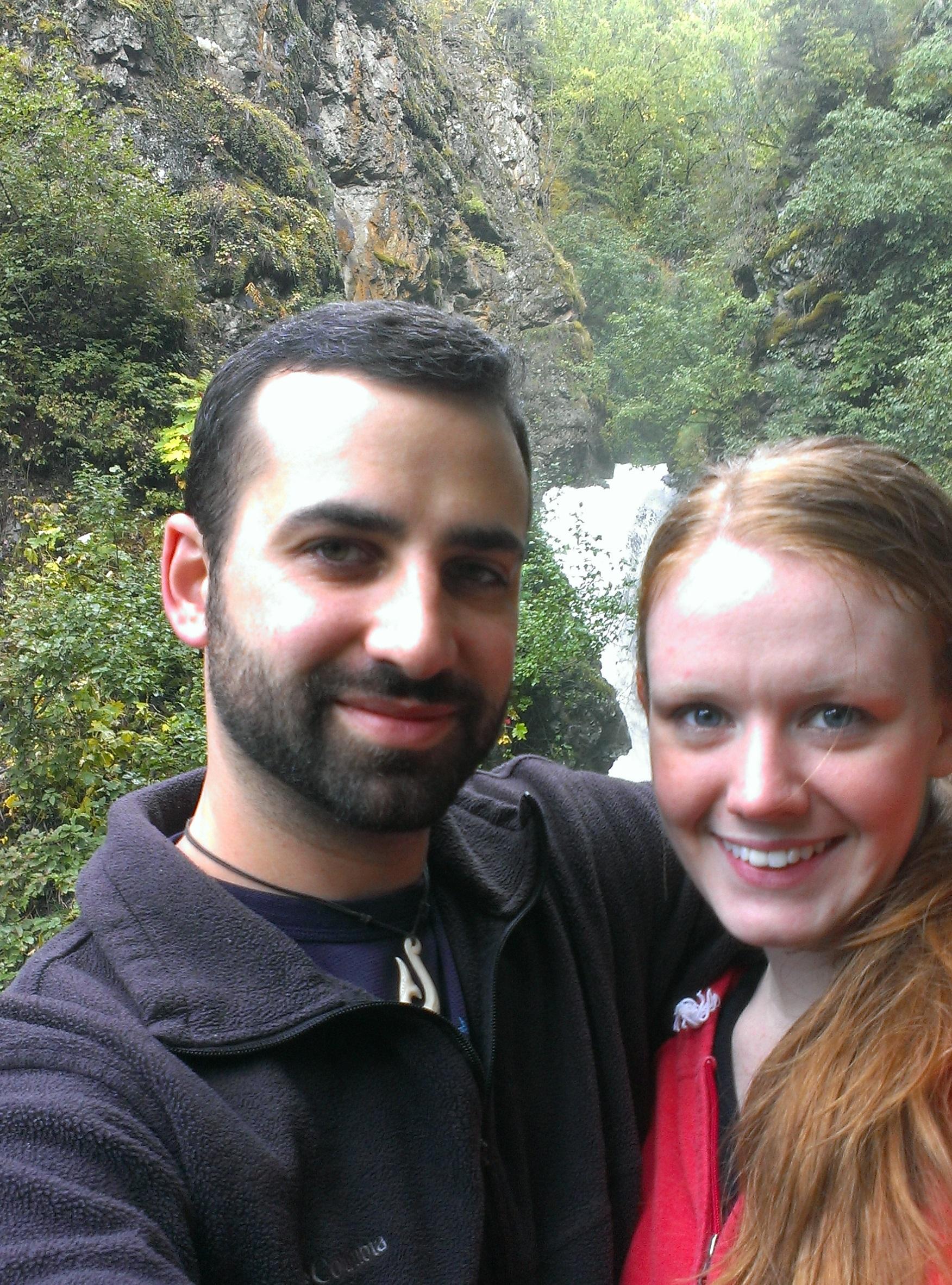 Gavin and his fiance Sydney Taylor hiking in Alaska.