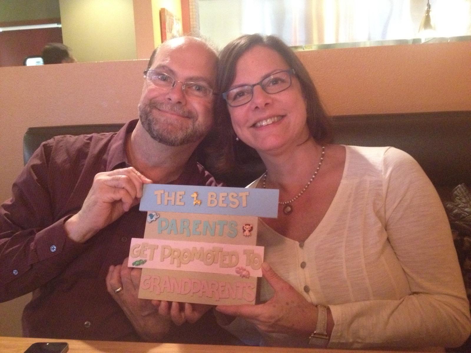 John and Christine become Grandparents!