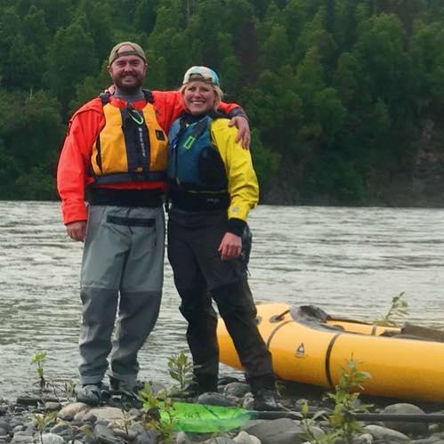 Chris & Marie Packrafting North of Talkeetna