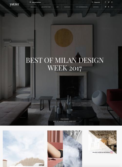 Yatzer Best of Milan Design Week 2017